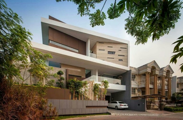 2-Story House with Cool Architecture