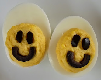 smiley face deviled eggs