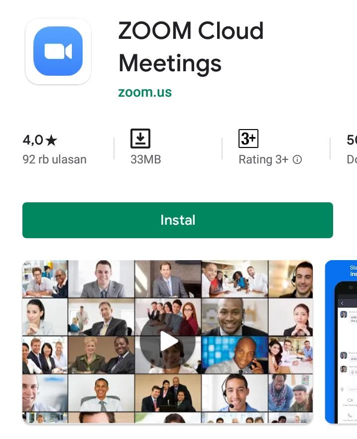Cara Install dan Membuat Akun Aplikasi Zoom Cloud Meeting di HP