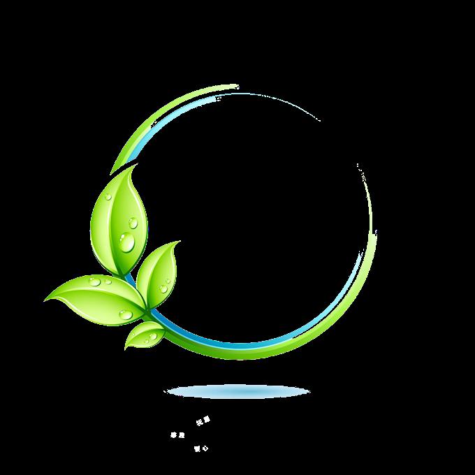 Logo Green Leaf, Green leaves border, green leaf illustration, border, frame, watercolor Leaves png free png download