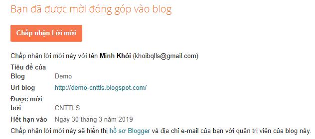 Chuyển quyền sở hữu Blogspot