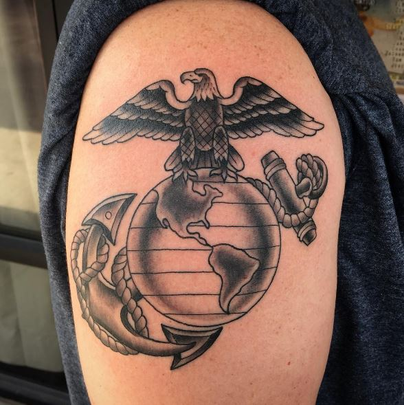 usa army eagle tattoo