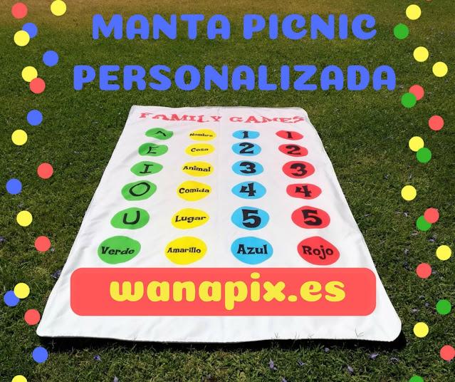 Manta picnic personalizada WANAPIX