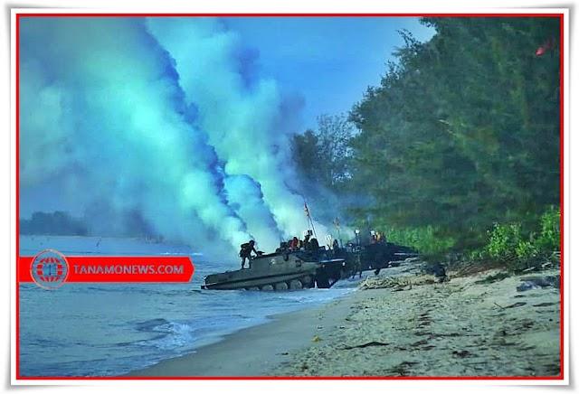 Operasi Amfibi Berhasil Mendaratkan Pasukan Di Dabo Singkep, Kepri
