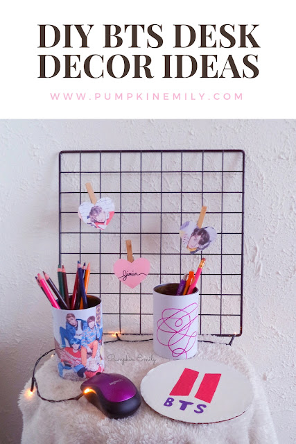 DIY BTS Desk Decor Ideas
