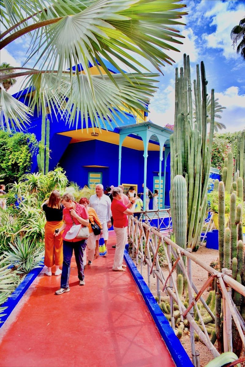marrakesz ogród majorelle, Marrakesz ogród ysl Laurent Jardin majorelle, budynek