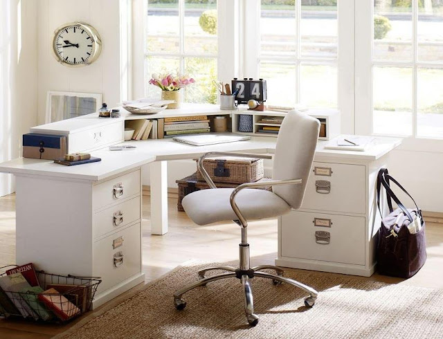 best buy white office furniture pottery barn for sale discount