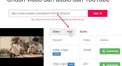 mengubah video youtube menjadi mp3