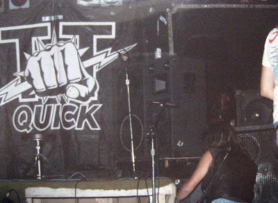 TT Quick on stage kicking our asses at the Birch Hill night club Old Bridge, New Jersey