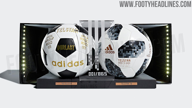 wholesale dealer c61f5 ba1dc Adidas Telstar 1970 + 2018 World Cup Ball Collection