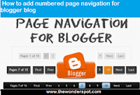 How to add numbered page navigation widget for blogger blog