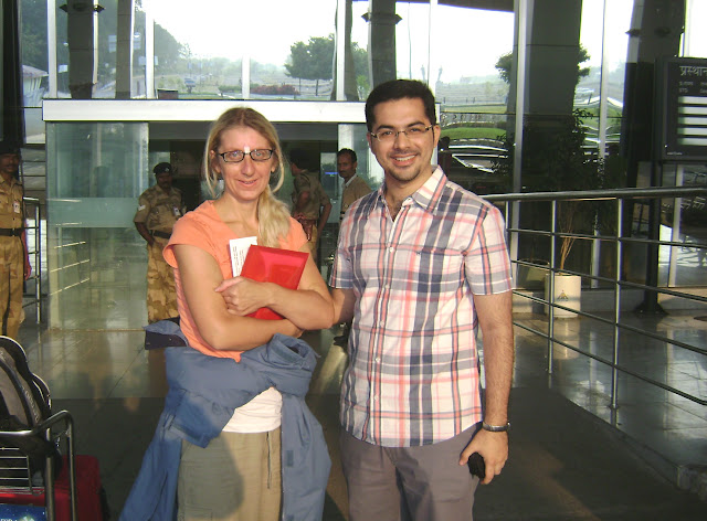Michelle Andrews with Dheeraj Bhojwani