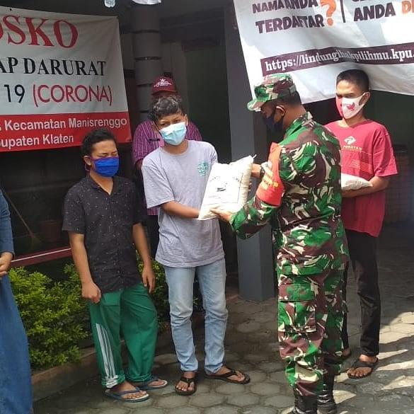 Pendistribusian Bansos TNI-POLRI Di Wilayah Kecamatan Manisrenggo