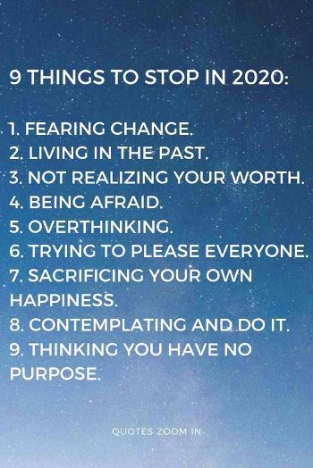 9 things to stop in 2020 - #quotes #newyearquotes