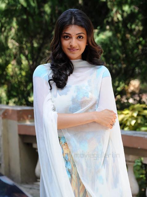 Actress Kajal Agarwal Cute Looking in Churidar Dress HD Wallpapers