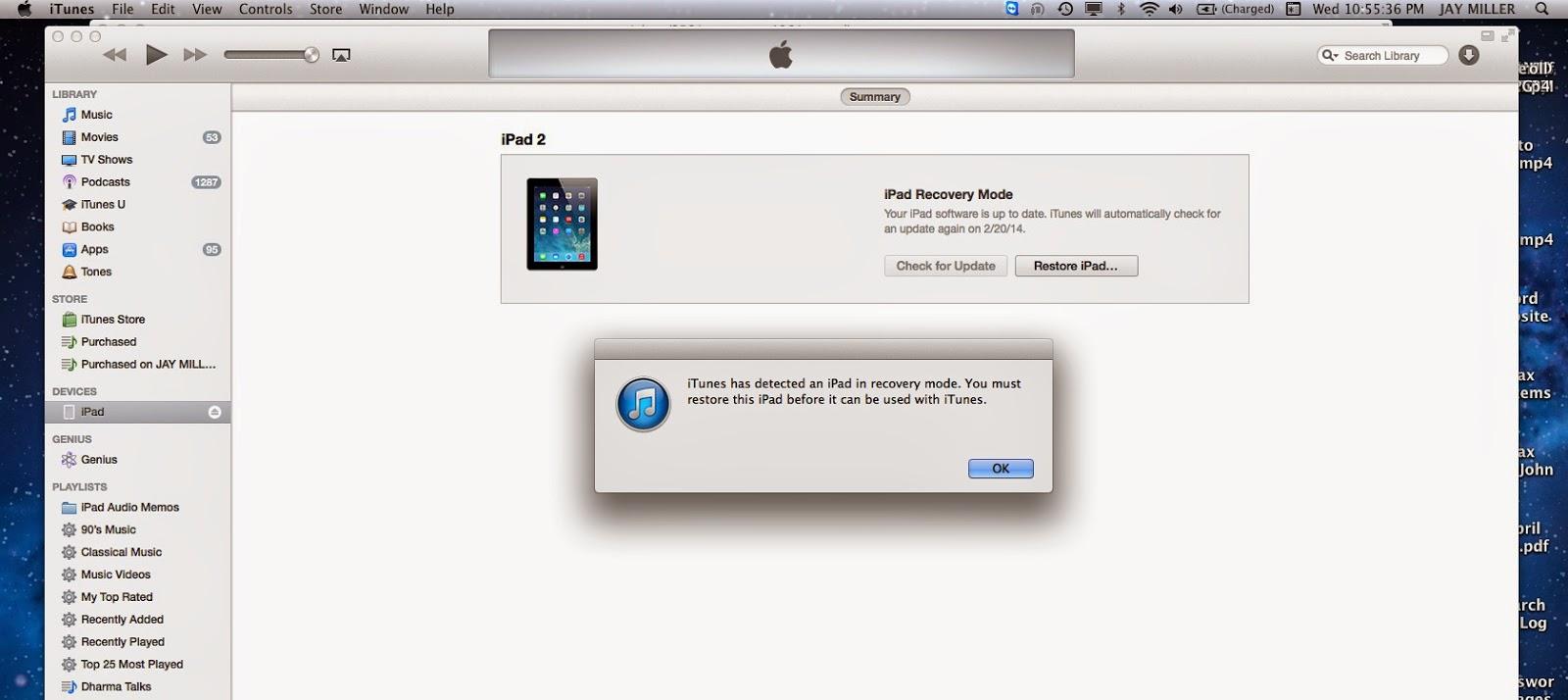 Restoring iPhone, iPad, iPod