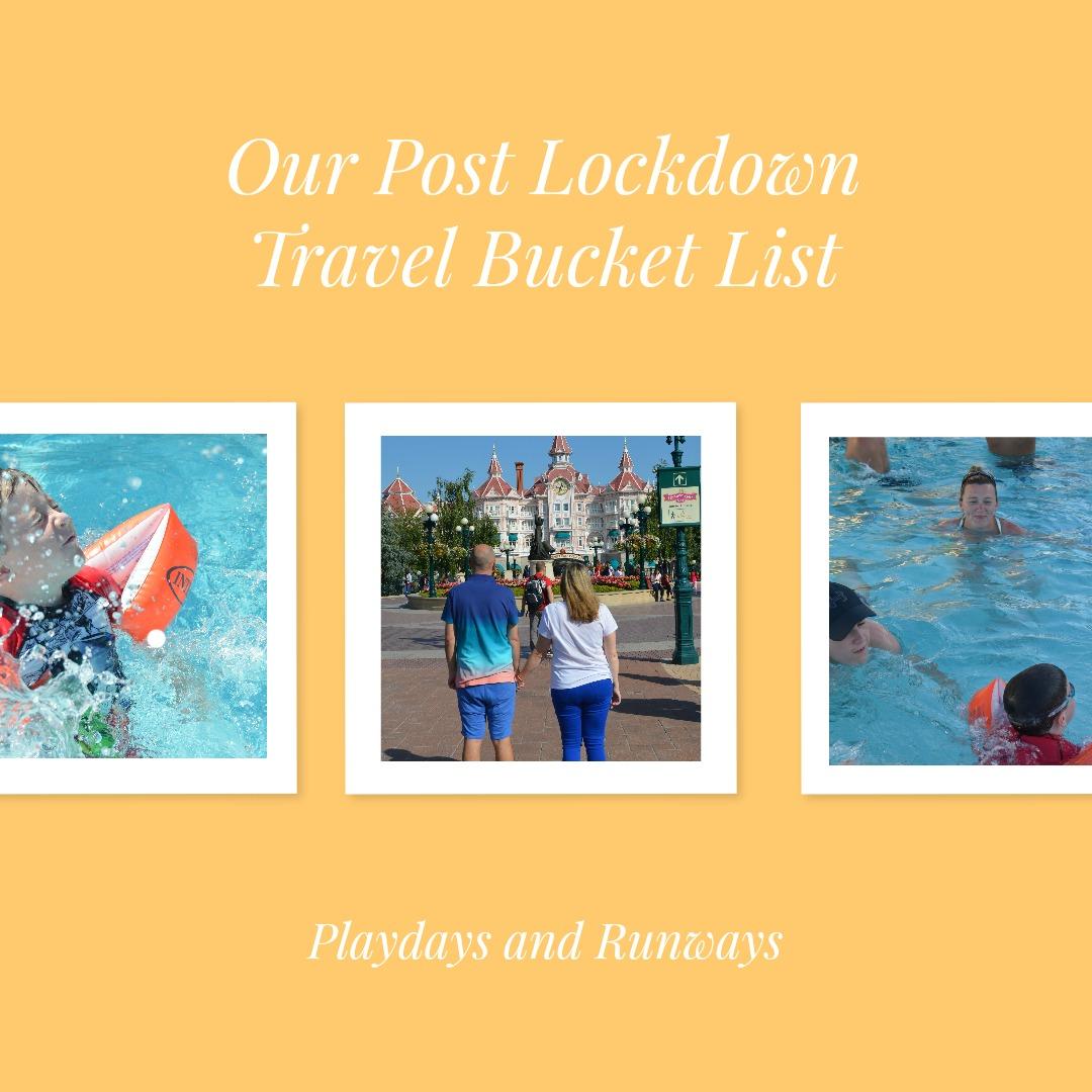 Post Lockdown Travel Bucket List Image