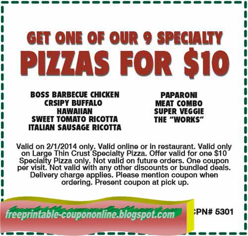 image relating to Papa Gino's Printable Coupons named Printable Discount coupons 2019: Papa Ginos Discount coupons