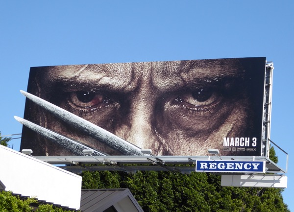 Logan movie claws special extension billboard