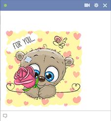 Teddy with Rose Emoji