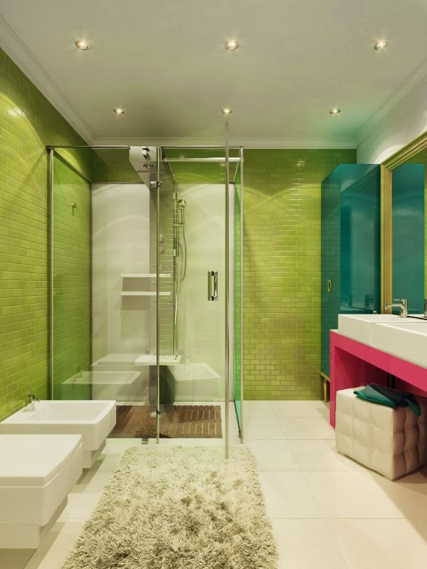 Green And Pink Bathroom Is It Masculine Enough For The Boys