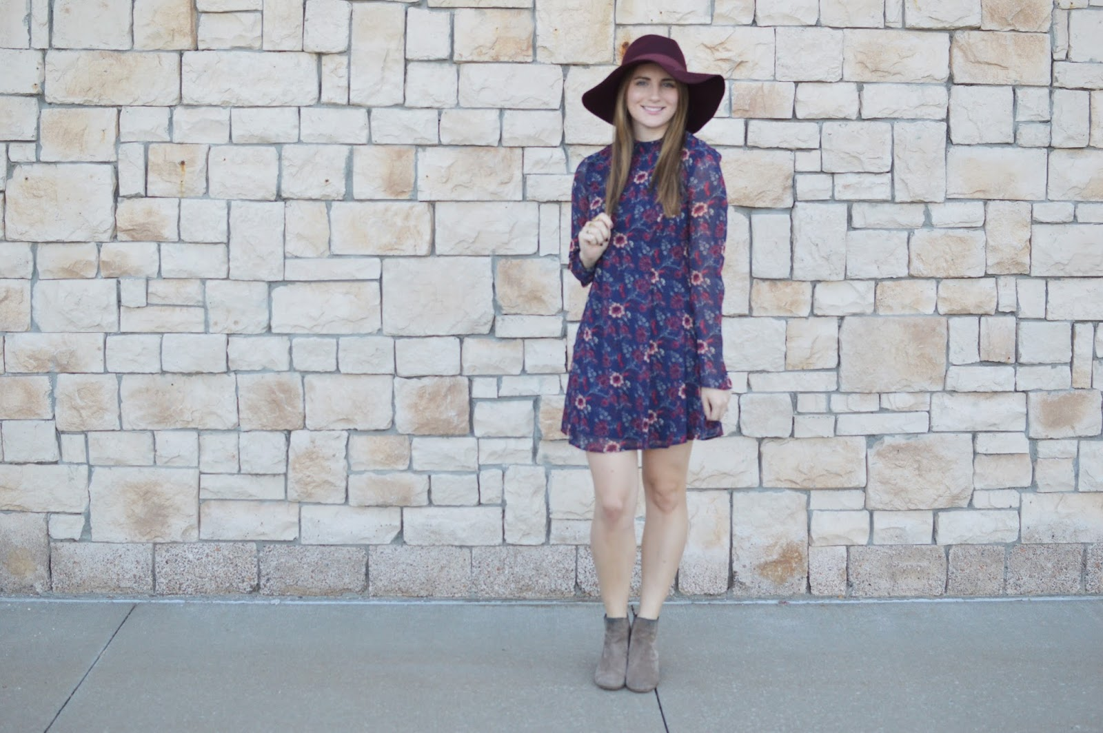 mock neck floral print dress for fall | fall outfit ideas | a memory of us | cute outfits for fall | what to wear this fall | kansas city fashion blog