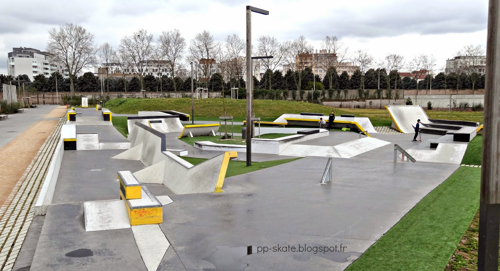 Skatepark béton Lyon