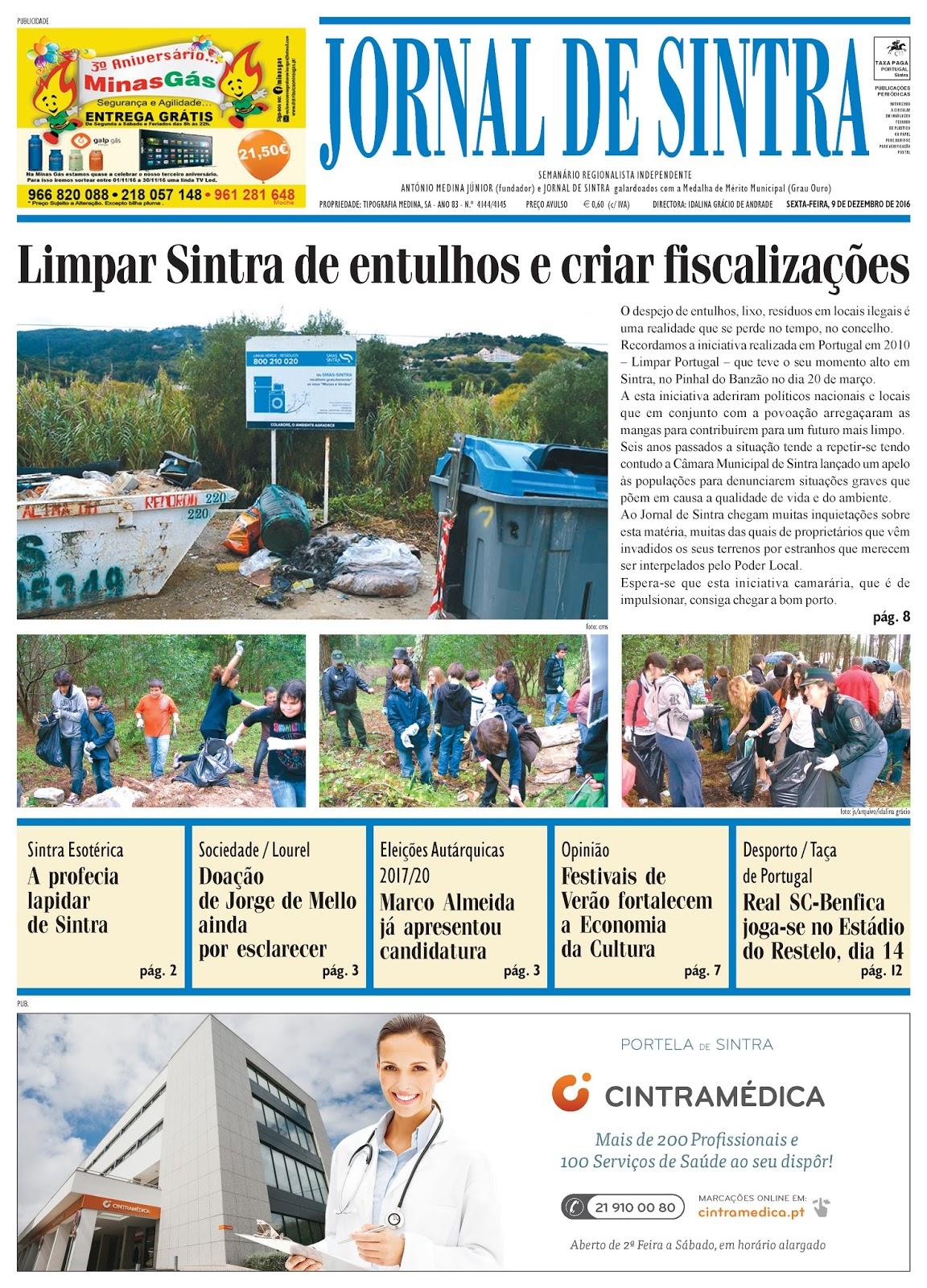 Capa da edição de 09-12-2016