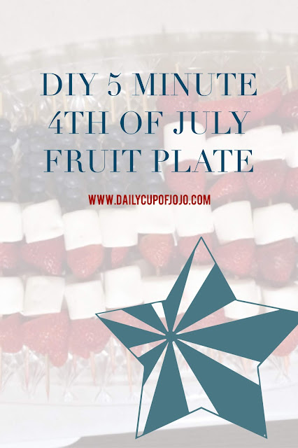 Easy 4th of July dish | easy fruit plate | easy fruit display | independence day fruit | simple 4th of july fruit plate