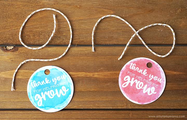 """Thank You For Helping Me Grow"" Teacher Gift Idea"