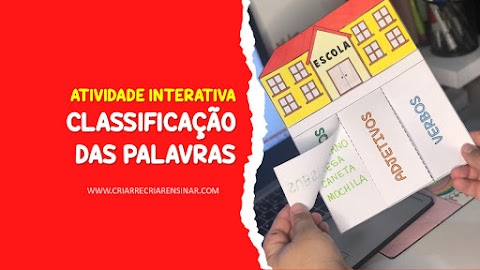 ATIVIDADE INTERATIVA: CLASSIFICAÇÃO DAS PALAVRAS