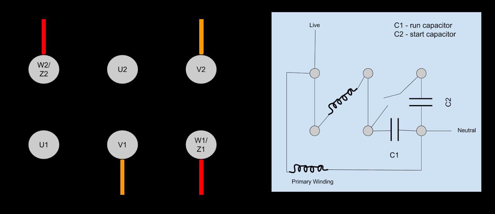 capacitor run motors diagrams capacitor run motor diagram usbmodels co