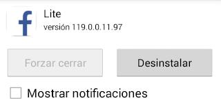 desactivar notificaciones de facebook en android