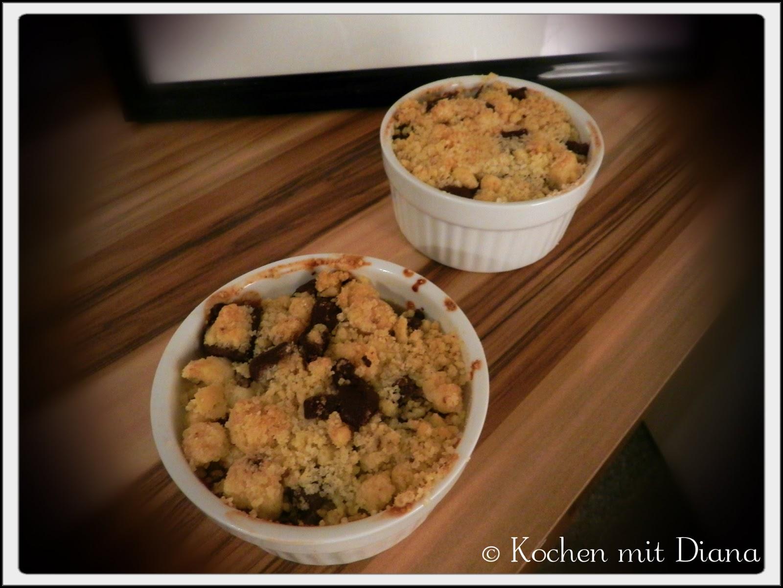 Quitten-Crumble mit Heidelbeeren