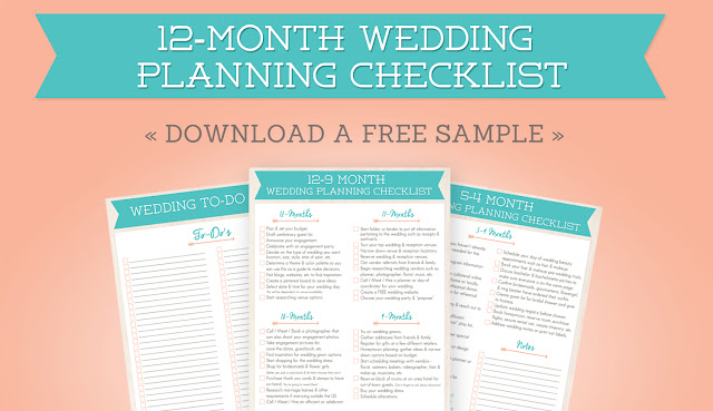 12 Month Wedding Planning Checklist Free Planner Printable