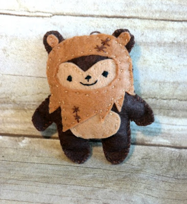 Star Wars Handmade EWOK Ornament from Felt