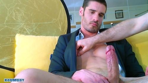 Pierre, a handsome hetero gets massaged by 2 guys!