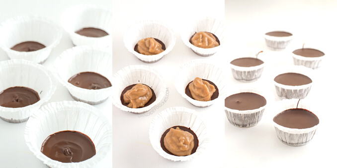 Chocolate cups step by step - danceofstoves.com