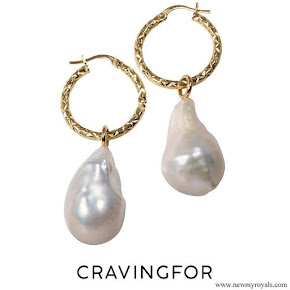 Crown Princess Victoria Cravingfor Jewellery Baroque Pearl earrings