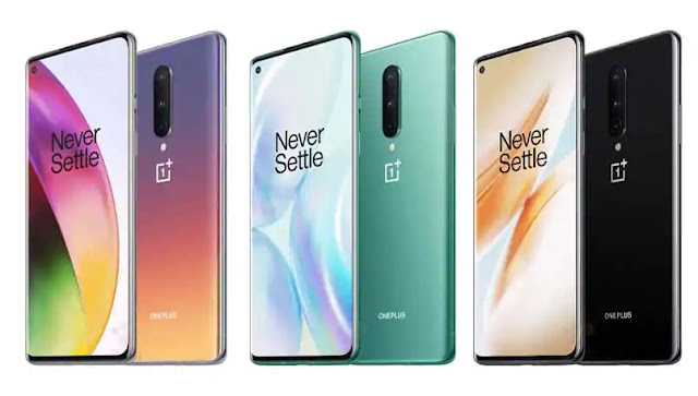 OnePlus 8 press images show new color options.