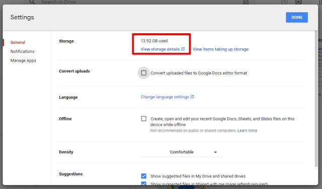 Tutorial Cek Ruang Penyimpanan Google Drive Pada Akun Belajar.id