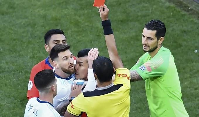 ¿Cuántas expulsiones tiene Lionel Messi a lo largo de su carrera?