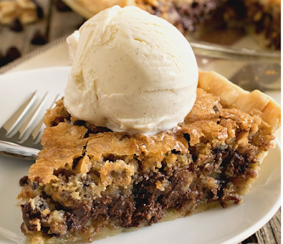 Toll House Chocolate Chip Pie #cake