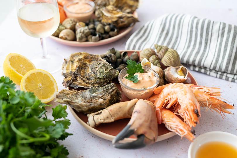 recette Plateau de fruits de mer à la sauce cocktail