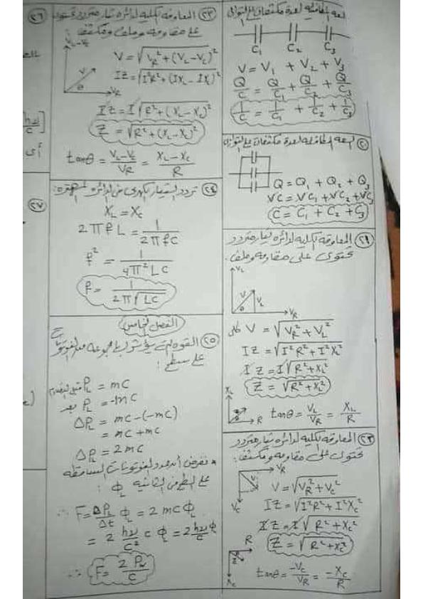 كل قوانين الفيزياء لثالثة ثانوي أ/ علاء رضوان 0%2B%25286%2529