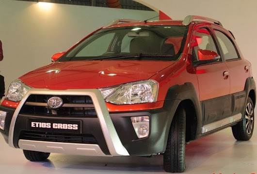 Toyota Etios Cruz shows for the Indian Auto Expo 2014