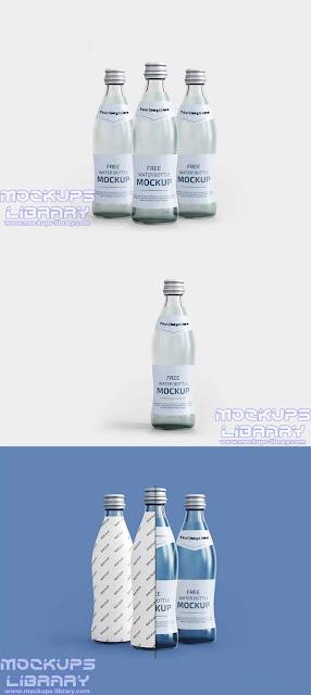 free water bottle mockup 2
