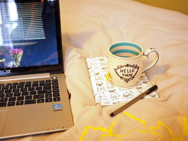 Laptop, Mug, Notebook