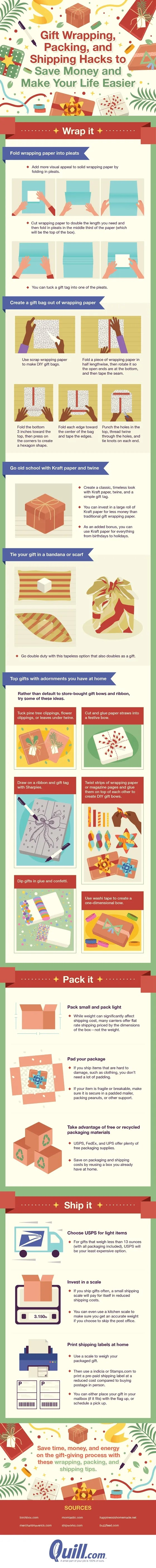 This Is How to Wrap Your Gifts Like a Pro [infographic]