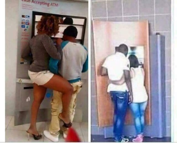 Couple at the ATM